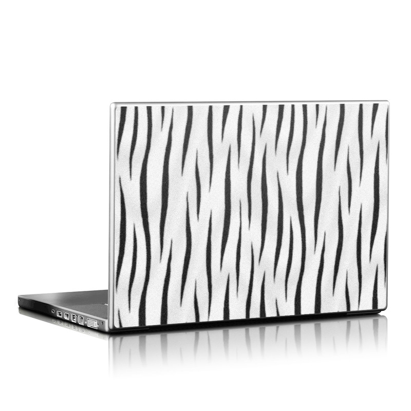 White Tiger Stripes Laptop Skin
