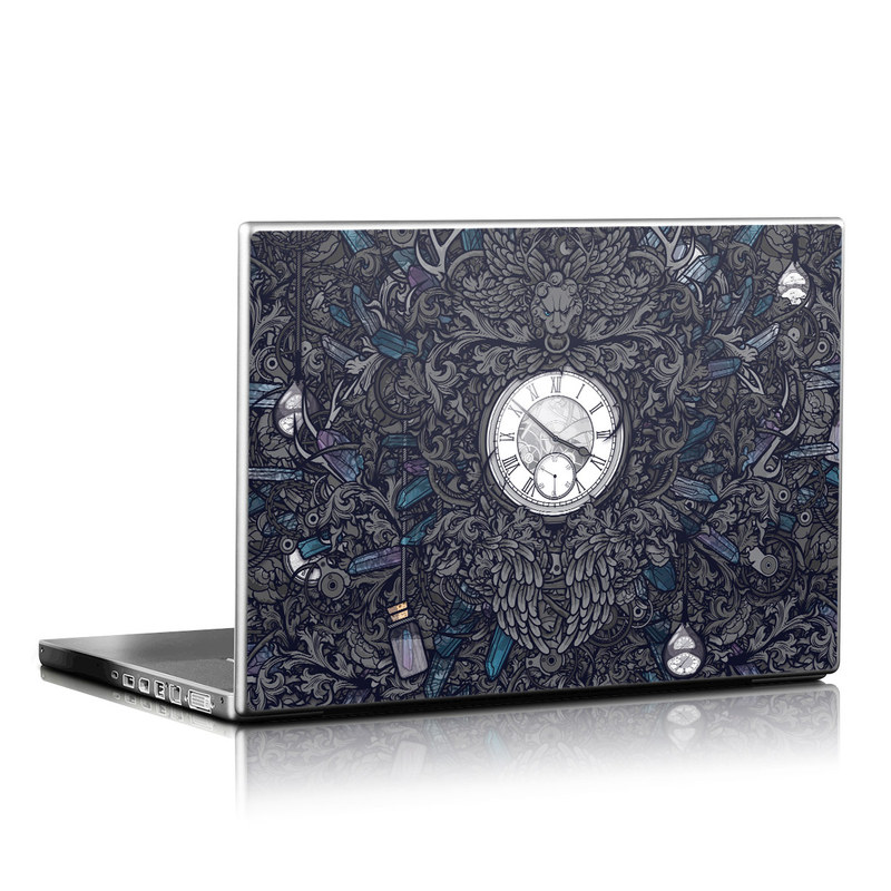 Laptop Skin design of Blue, Pattern, Psychedelic art, Design, Circle, Art, Font, Graphic design, Visual arts, Illustration with black, gray colors