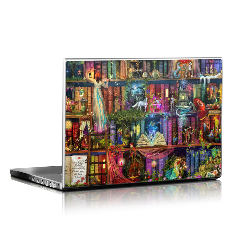 Laptop Skin design of Painting, Art, Theatrical scenery with black, red, gray, green, blue colors
