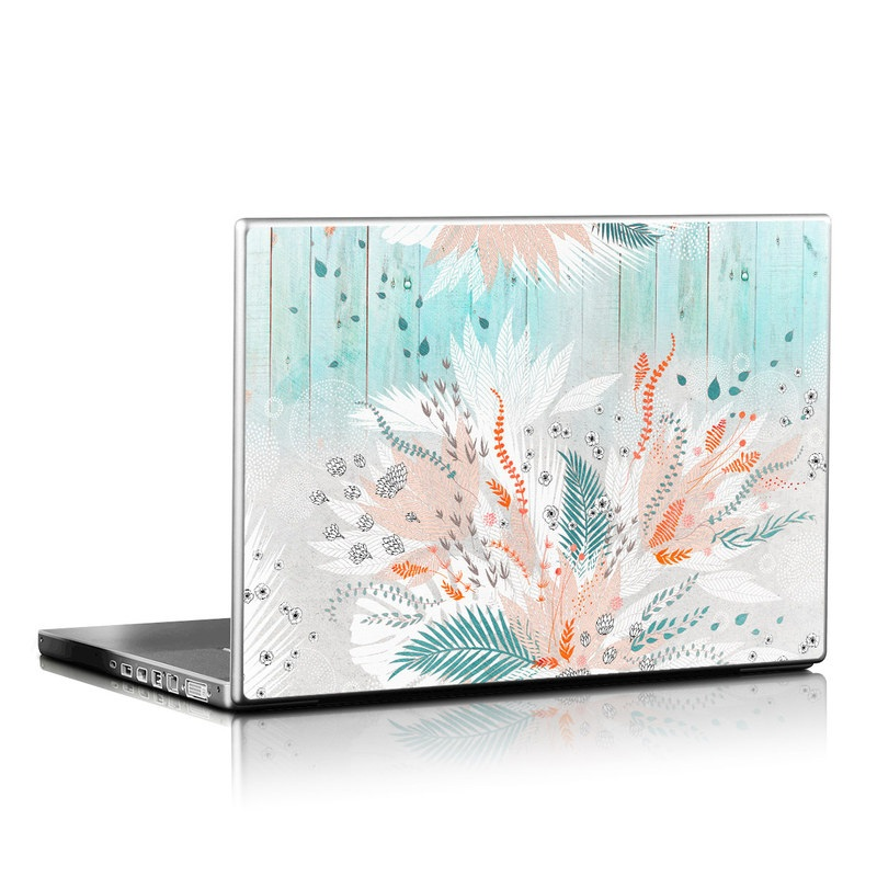 Laptop Skin design of Aqua, Turquoise, Graphic design, Line, Teal, Illustration, Watercolor paint, Design, Tree, Pattern with blue, red, orange, white, gray colors