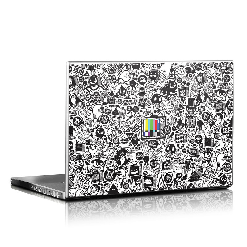 Laptop Skin design of Pattern, Drawing, Doodle, Design, Visual arts, Font, Black-and-white, Monochrome, Illustration, Art with gray, black, white colors