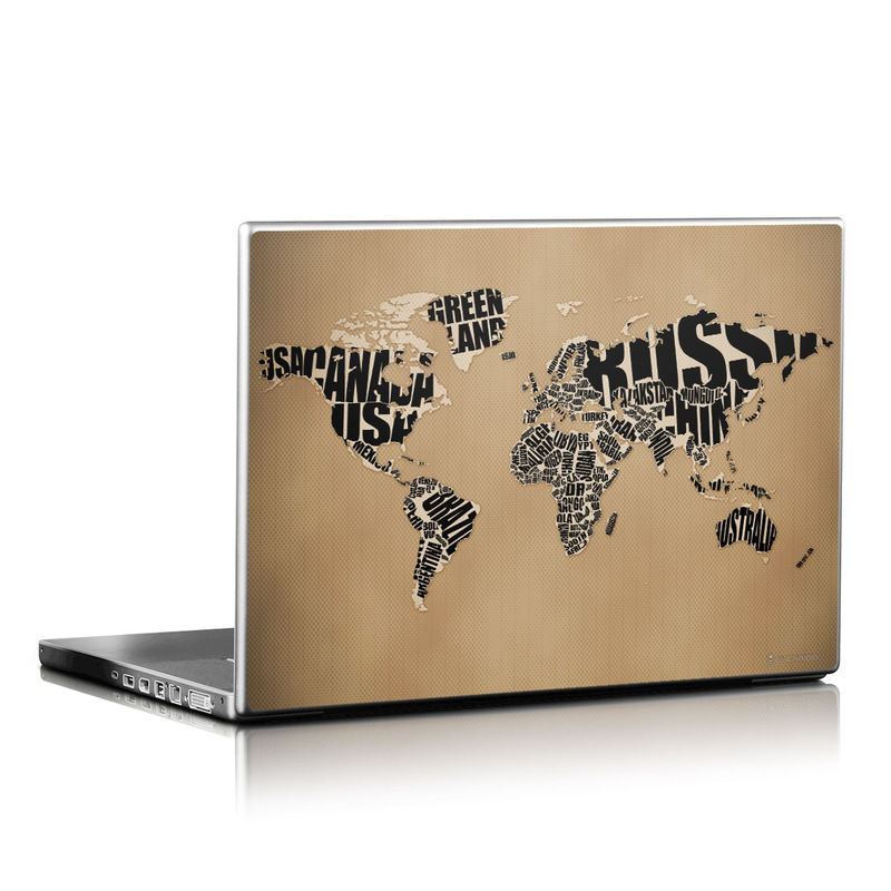 Type Map Laptop Skin