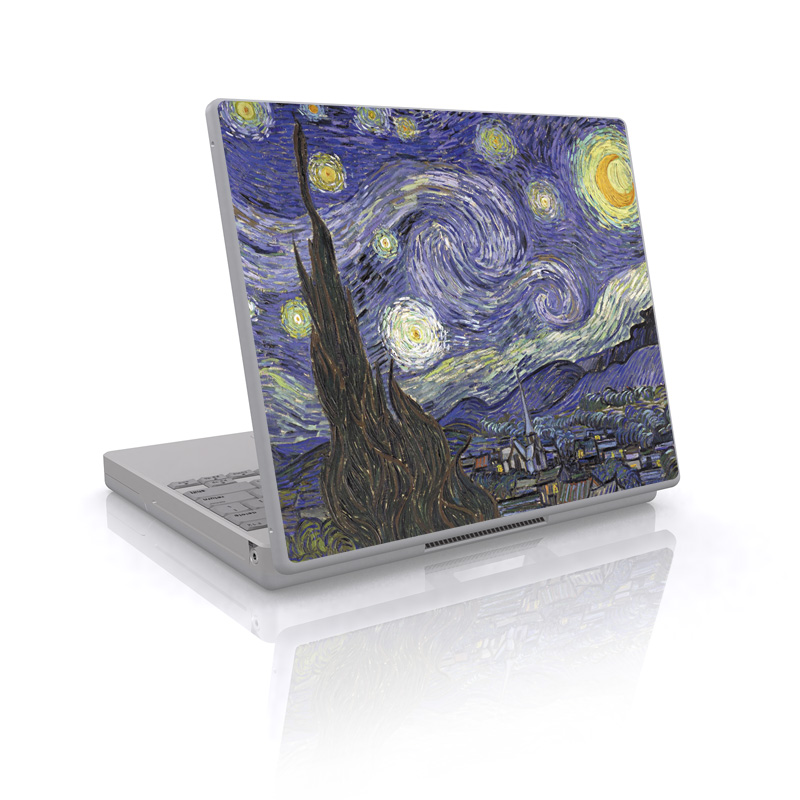 Laptop Skin design of Painting, Purple, Art, Tree, Illustration, Organism, Watercolor paint, Space, Modern art, Plant with gray, black, blue, green colors