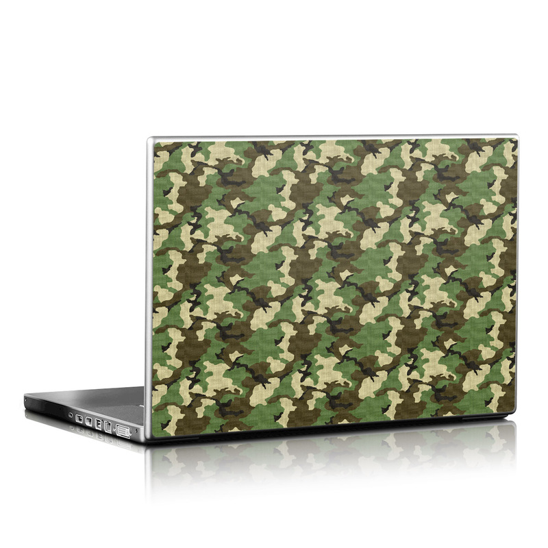 Woodland Camo Laptop Skin