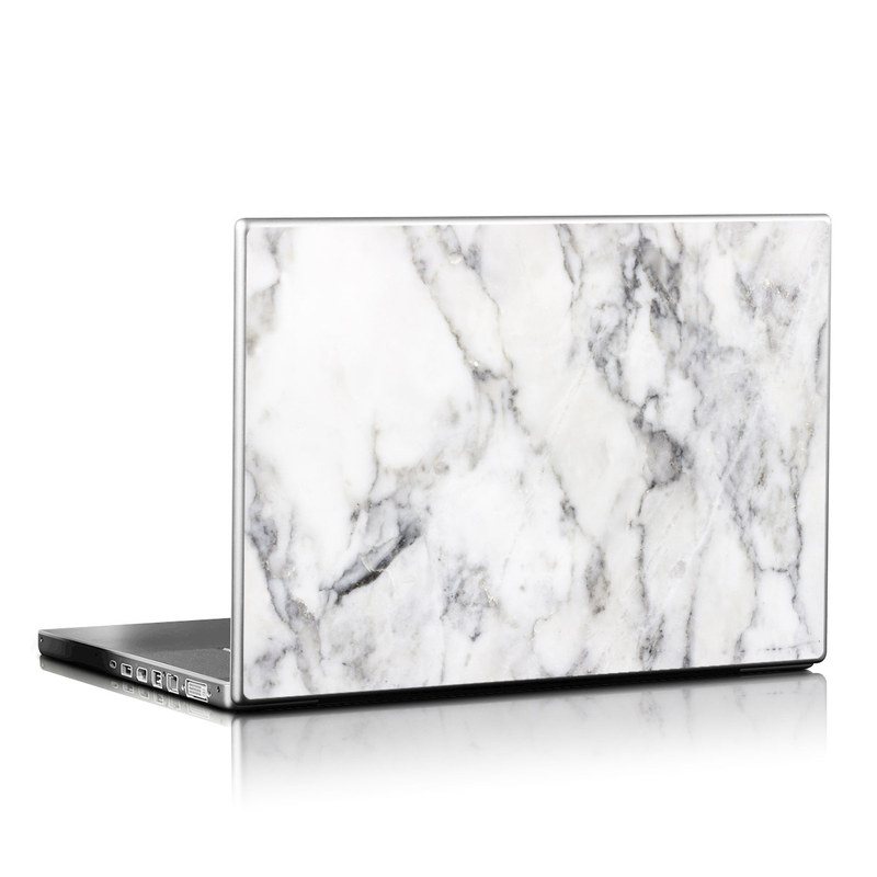 Laptop Skin design of White, Geological phenomenon, Marble, Black-and-white, Freezing with white, black, gray colors