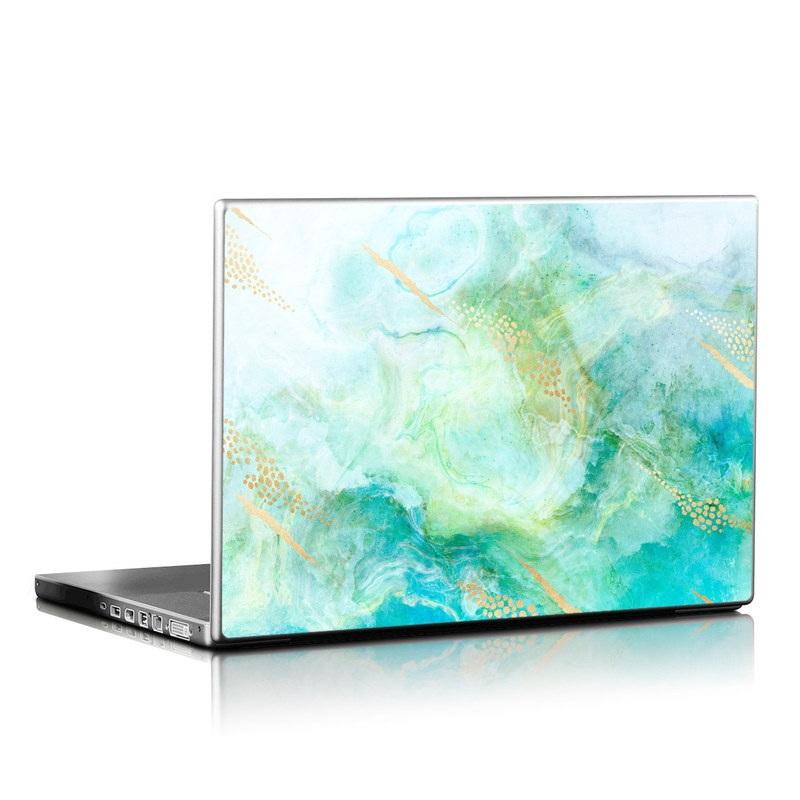 Laptop Skin design of Blue, Watercolor paint, Aqua, Line, Sky, Design, Pattern, Art, Illustration with blue, yellow, orange colors