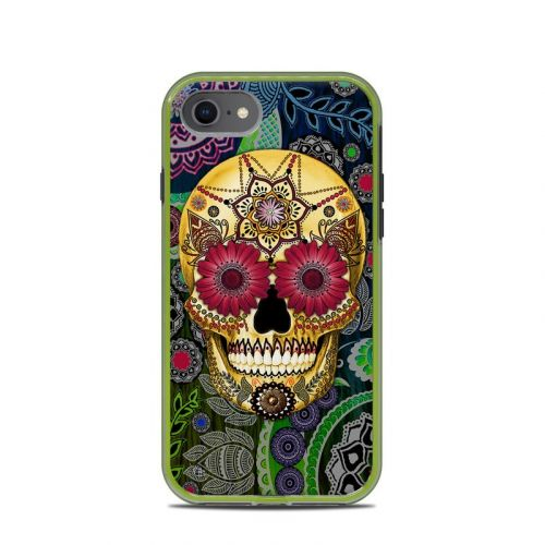 Sugar Skull Paisley LifeProof iPhone 8 Slam Case Skin