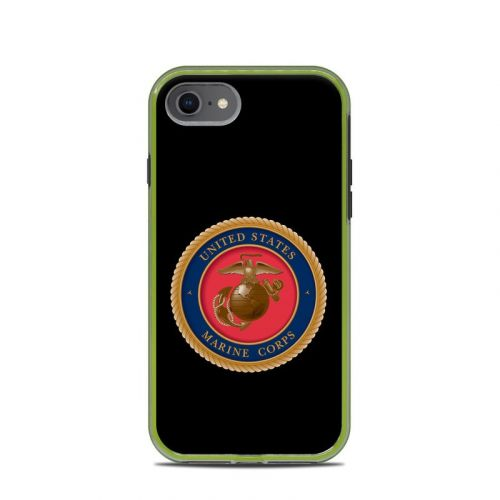 USMC Black LifeProof iPhone 8 Slam Case Skin