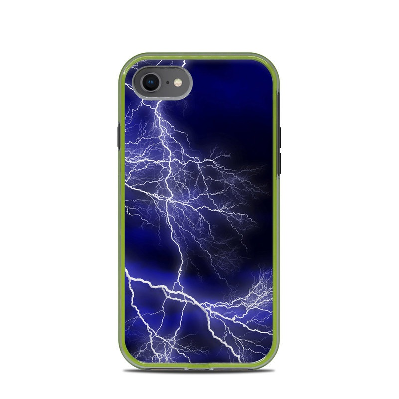 LifeProof iPhone 8 Slam Case Skin design of Thunder, Lightning, Thunderstorm, Sky, Nature, Electric blue, Atmosphere, Daytime, Blue, Atmospheric phenomenon with blue, black, white colors