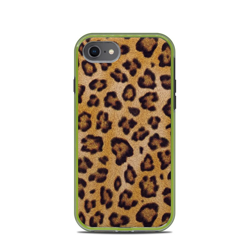 LifeProof iPhone 8 Slam Case Skin design of Pattern, Felidae, Fur, Brown, Design, Terrestrial animal, Close-up, Big cats, African leopard, Organism with orange, black colors