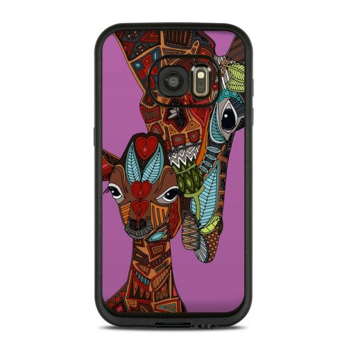 Giraffe Love LifeProof Galaxy S7 fre Case Skin