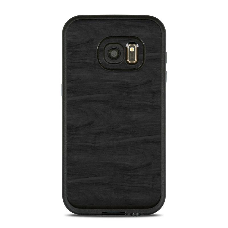 Black Woodgrain LifeProof Galaxy S7 fre Skin