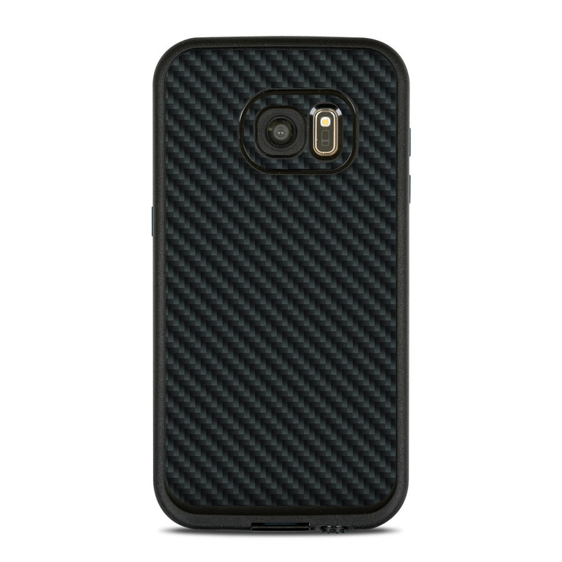 LifeProof Galaxy S7 fre Case Skin design of Green, Black, Blue, Pattern, Turquoise, Carbon, Textile, Metal, Mesh, Woven fabric with black colors