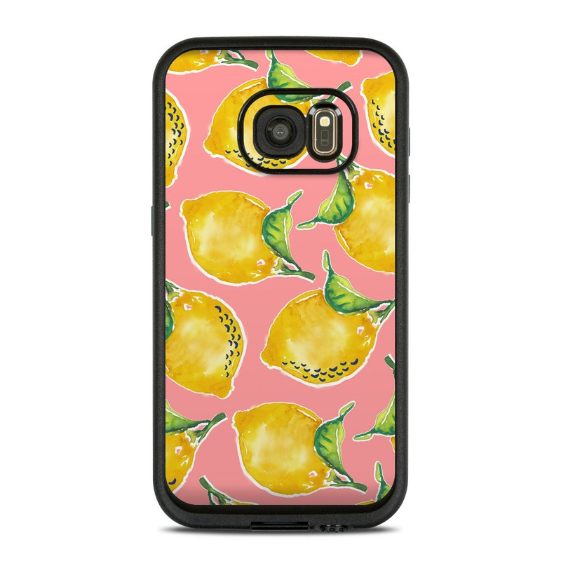 LifeProof Galaxy S7 fre Case Skin design of Yellow, Plant with yellow, green, pink colors