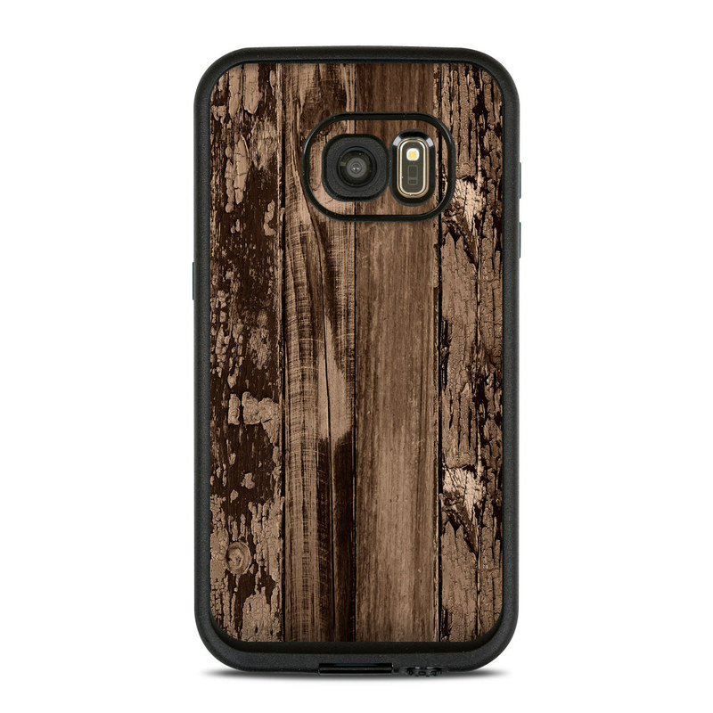 Weathered Wood LifeProof Galaxy S7 fre Skin