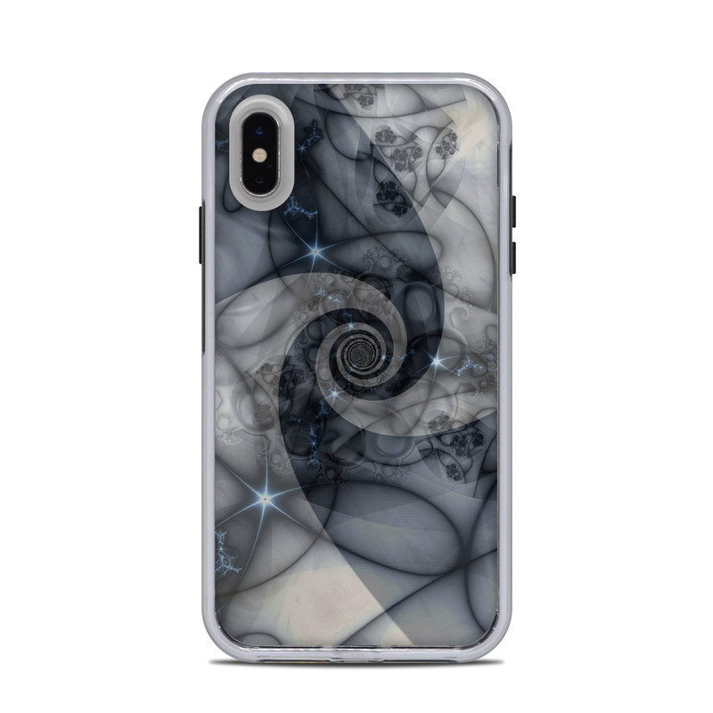 LifeProof iPhone XS Max Slam Case Skin design of Eye, Drawing, Black-and-white, Design, Pattern, Art, Tattoo, Illustration, Fractal art with black, gray colors