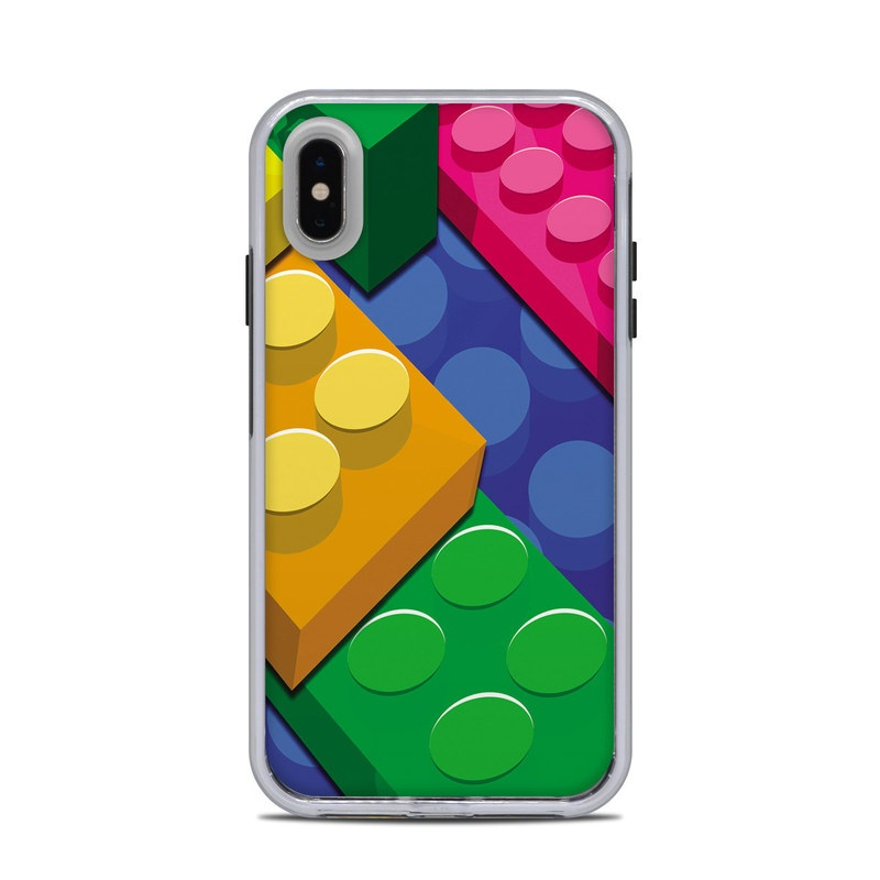 LifeProof iPhone XS Max Slam Case Skin design of Colorfulness, Pattern, Circle, Games, Play with red, blue, green, yellow, orange, pink colors