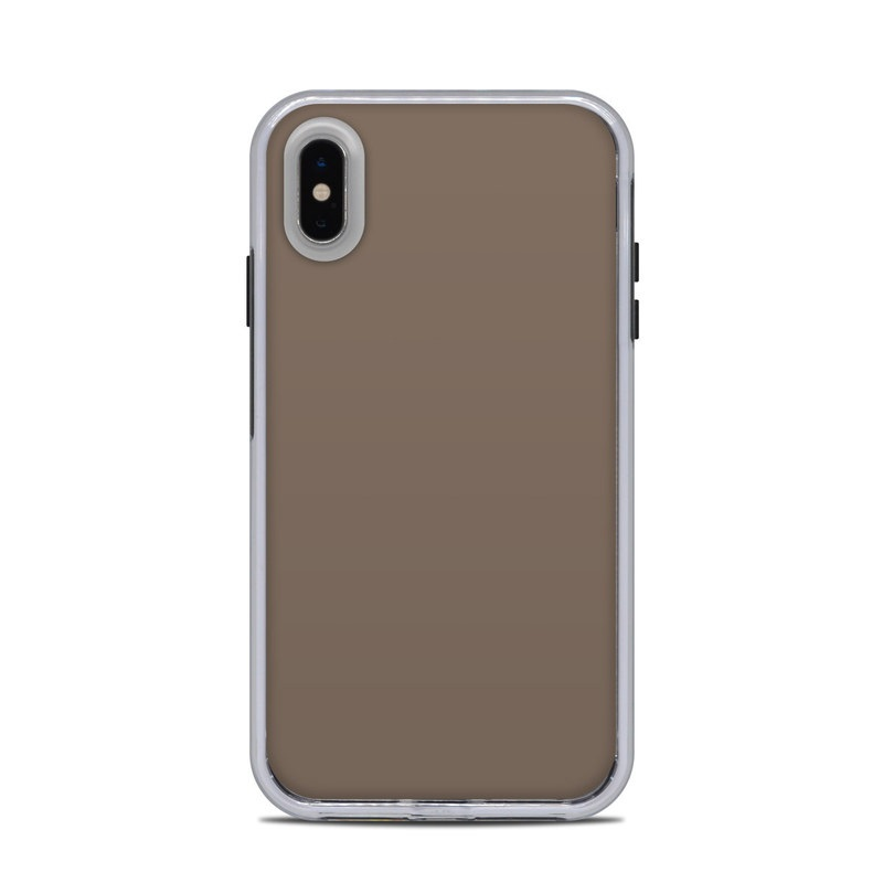 LifeProof iPhone XS Max Slam Case Skin design of Brown, Text, Beige, Material property, Font with brown colors