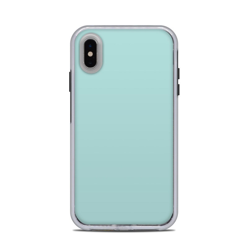 LifeProof iPhone XS Max Slam Case Skin design of Green, Blue, Aqua, Turquoise, Teal, Azure, Text, Daytime, Yellow, Sky with blue colors