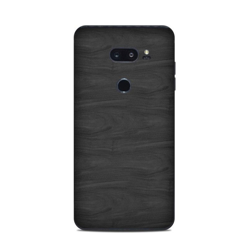 LG V35 ThinQ Skin design of Black, Brown, Wood, Grey, Flooring, Floor, Laminate flooring, Wood flooring with black colors