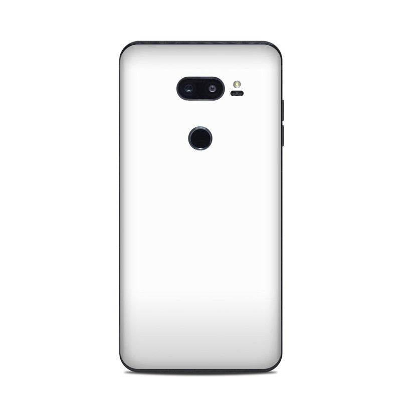 LG V35 ThinQ Skin design of White, Black, Line with white colors