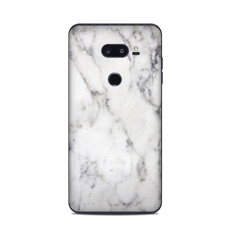 LG V35 ThinQ Skin design of White, Geological phenomenon, Marble, Black-and-white, Freezing with white, black, gray colors