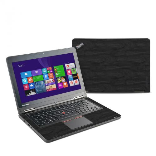 Black Woodgrain Lenovo ThinkPad Yoga 12 Skin