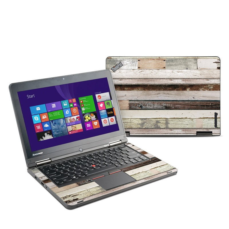 Lenovo ThinkPad Yoga 12 Skin design of Wood, Wall, Plank, Line, Lumber, Wood stain, Beige, Parallel, Hardwood, Pattern with brown, white, gray, yellow colors