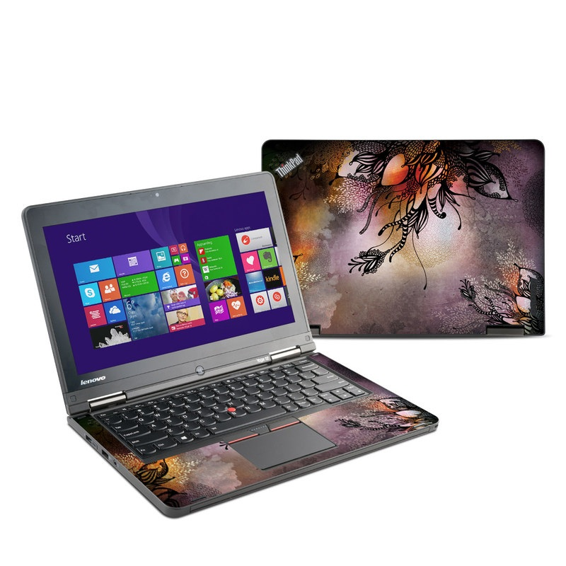 Lenovo ThinkPad Yoga 12 Skin design of Illustration, Graphic design, Cg artwork, Art, Fictional character, Graphics, Visual arts, Darkness with black, gray, red, green, purple colors