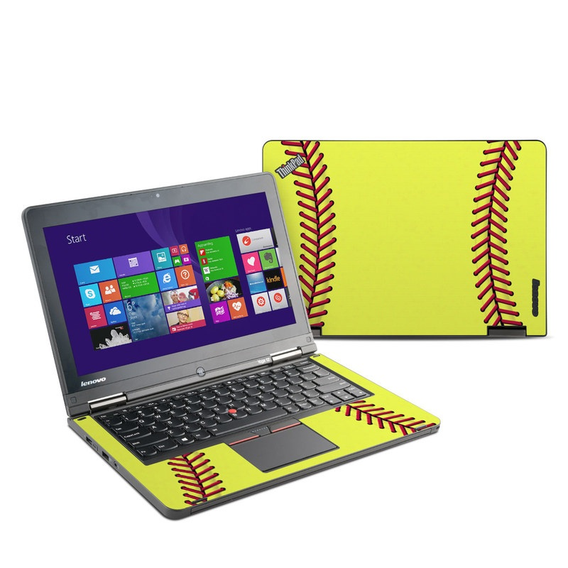 Lenovo ThinkPad Yoga 12 Skin design of Yellow, Line, Parallel with green, red, black colors