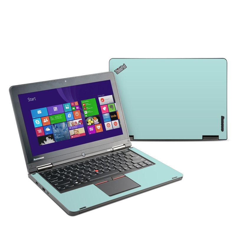 Lenovo ThinkPad Yoga 12 Skin design of Green, Blue, Aqua, Turquoise, Teal, Azure, Text, Daytime, Yellow, Sky with blue colors