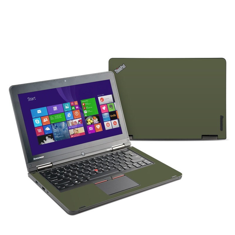 Lenovo ThinkPad Yoga 12 Skin design of Green, Brown, Text, Yellow, Grass, Font, Pattern, Beige with green colors