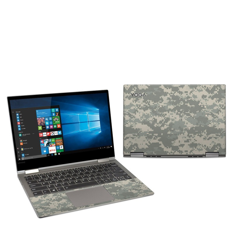 Lenovo Yoga 730 13-inch Skin design of Military camouflage, Green, Pattern, Uniform, Camouflage, Design, Wallpaper with gray, green colors