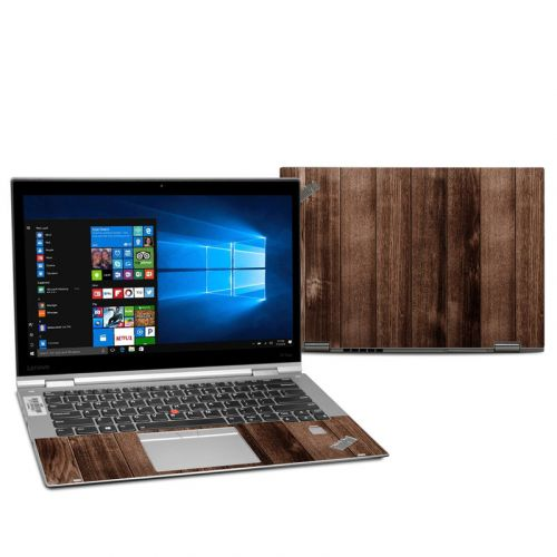 Stained Wood Lenovo ThinkPad X1 Yoga 2nd Gen Skin