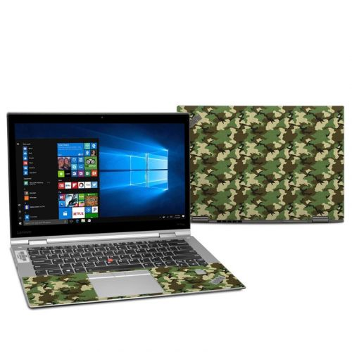 Woodland Camo Lenovo ThinkPad X1 Yoga 2nd Gen Skin