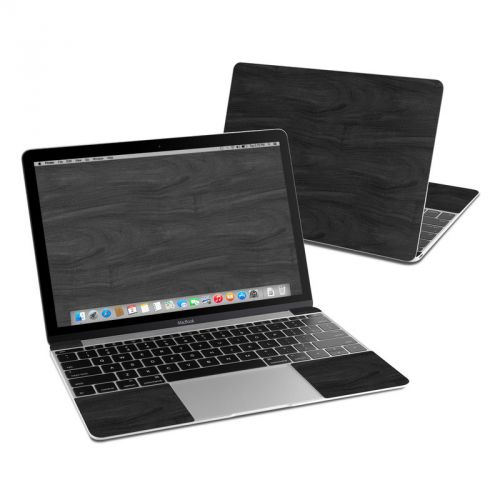Black Woodgrain MacBook 12-inch Skin