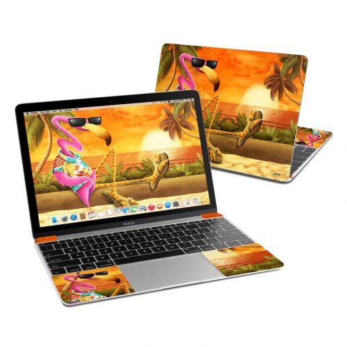 Sunset Flamingo MacBook 12-inch Skin