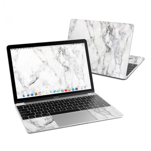 White Marble MacBook 12-inch Skin