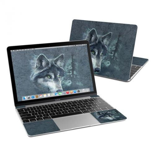 Wolf Reflection MacBook 12-inch Skin