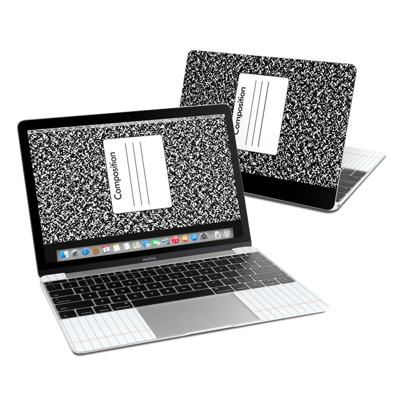 MacBook 12-inch Skin design of Text, Font, Line, Pattern, Black-and-white, Illustration with black, gray, white colors