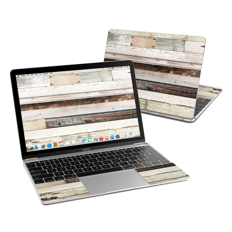 Eclectic Wood MacBook 12-inch Skin