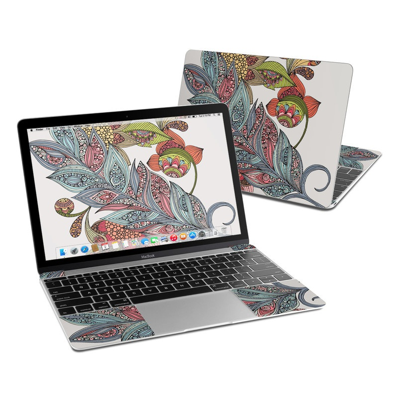 Feather Flower MacBook 12-inch Skin