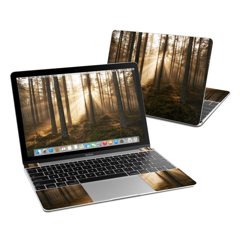 MacBook 12-inch Skin design of Forest, Woodland, Nature, Tree, Natural environment, Spruce-fir forest, Northern hardwood forest, Old-growth forest, Natural landscape, Tropical and subtropical coniferous forests with black, gray, red, green, pink colors