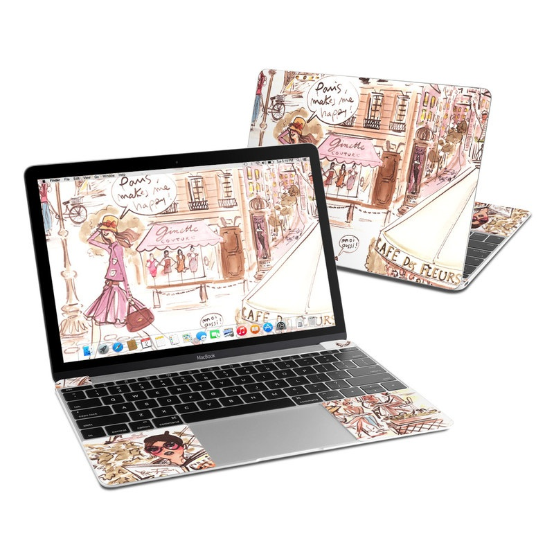 Paris Makes Me Happy MacBook 12-inch Skin
