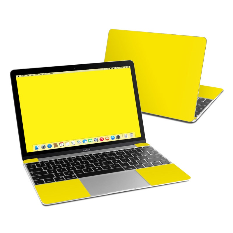 Solid State Yellow MacBook 12-inch Skin