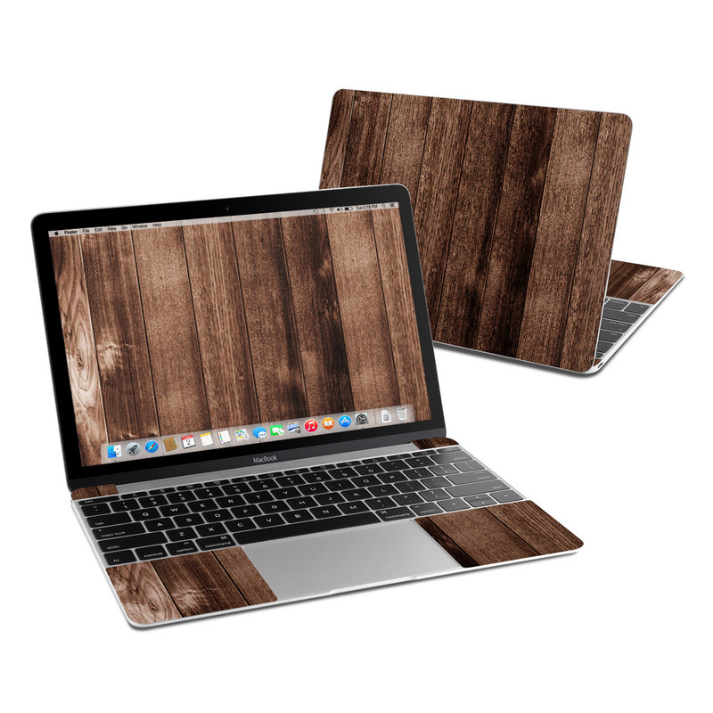 Stained Wood MacBook 12-inch Skin