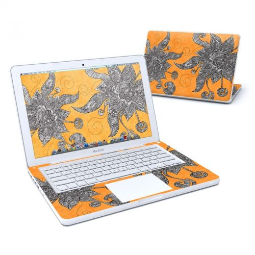 Orange Flowers Old MacBook 13-inch Skin