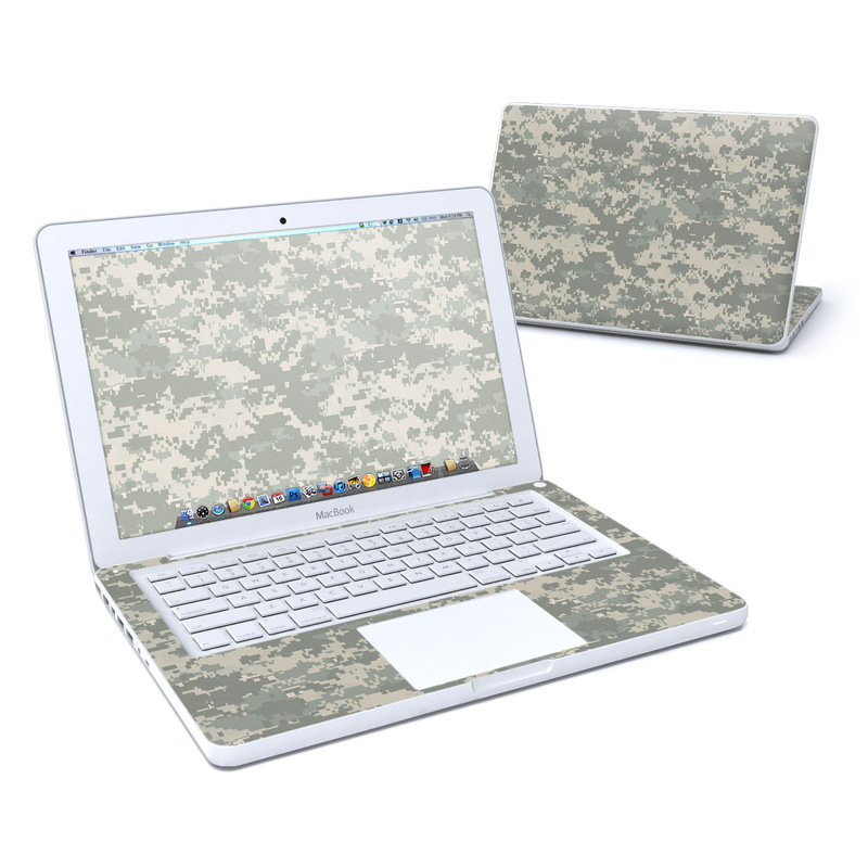 Old MacBook 13-inch Skin design of Military camouflage, Green, Pattern, Uniform, Camouflage, Design, Wallpaper with gray, green colors