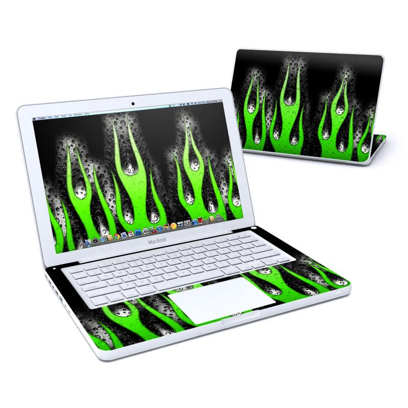 Acid Flames MacBook 13-inch Skin