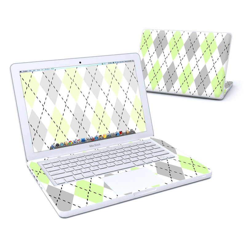 Mint Argyle Old MacBook 13-inch Skin